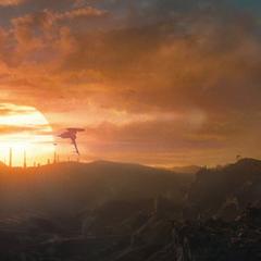 Sunset on Krypton
