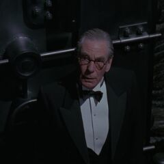 Alfred in the Batcave.