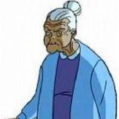 Harley Quinn as an old woman in <i>Batman Beyond: Return Of The Joker</i>.