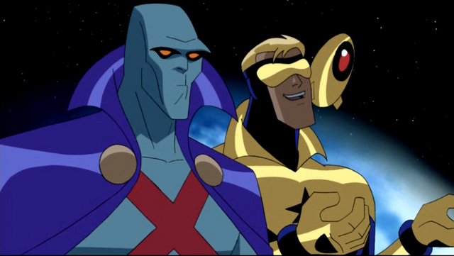 File:Booster Gold & Martian Manhunter JLU .png