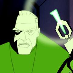 Bruce Wayne gives Batman Kryptonite to disable Superman.