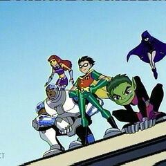 The core Titans lead the others to fight Dr. Light.