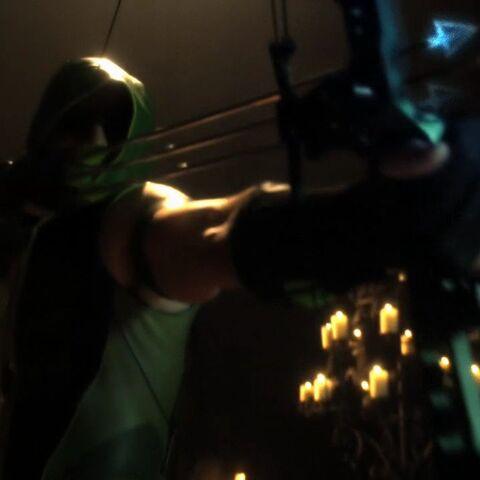 Green Arrow defeats the Unholy Trinity.