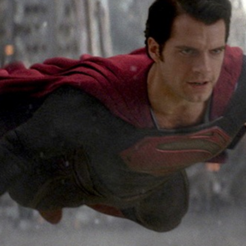 Superman levitating during the battle with Zod, in <i><a href=