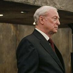Michael Caine as Alfred Pennyworth in <i>The Dark Knight</i>.