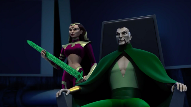 File:Ra's al Ghul and Lady Shiva with sword.png
