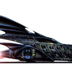 Concept art for <i>Batman Forever</i> Batmobile.