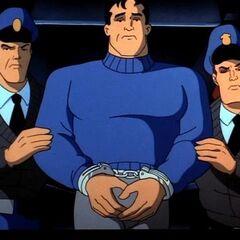 Bruce Wayne is framed by Hagen and Daggett.