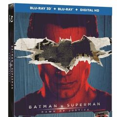 Batman v Superman: Dawn of Justice 3D combo pack with Superman