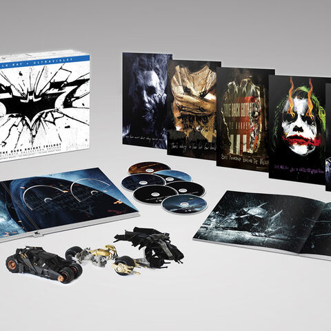 The Dark Knight Trilogy Blu-ray boxset collection.