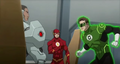 JLToA Cyborg, The Flash and Green Lantern.png