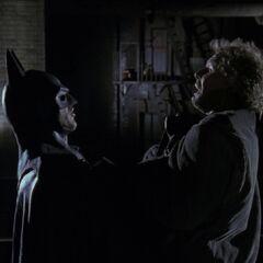 Batman tells Nick to spread the word that Batman is real.
