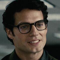 Clark Kent wearing glasses.