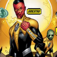 <b>Sinestro</b>/The only thing sinister about him is his moustache