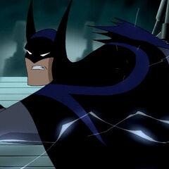 Batman fights the Thanagarians.