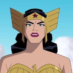 Wonder Woman battle gear.