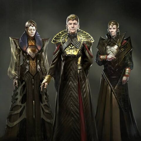 Concept art for the Kryptonian Council.