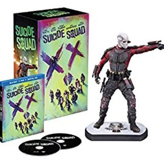 Suicide Squad Amazon Blu Ray with Deadshot figure.
