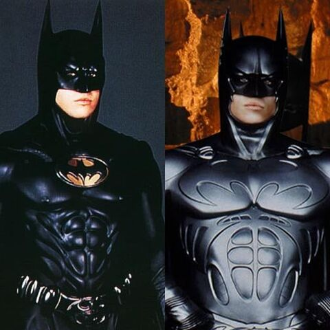 Bruce's third and fourth Batsuits.