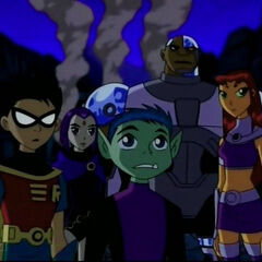 The Teen Titans after Metro's captured by the Brotherhood of Evil.
