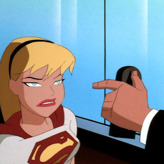 Supergirl confronted by Luthor.
