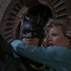 Batman rescues Vicki.