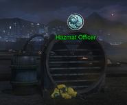 Hazmat Officer and fogger