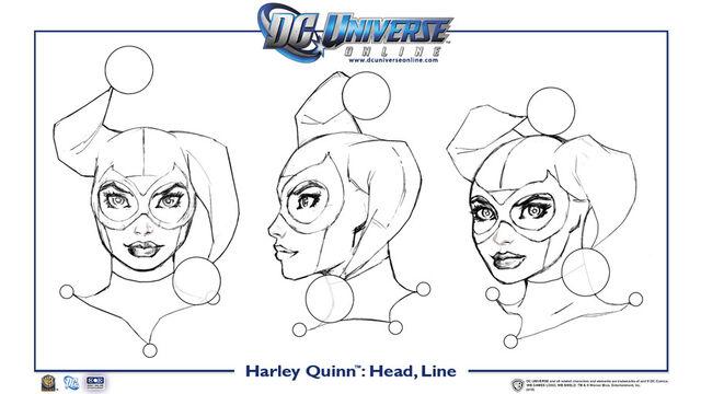 File:Harley Quinn head line.jpg