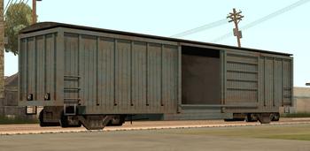 Ein Güterzugwaggon