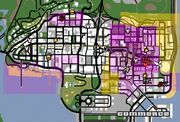 SA Stadtplan mit Bandengebieten