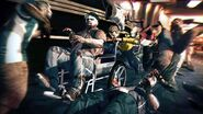 Dead rising 2 wheelchair with zombie in it