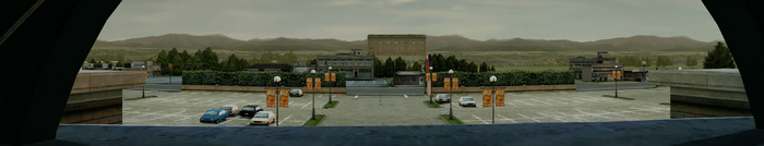 Dead rising parking lot PANORAMA