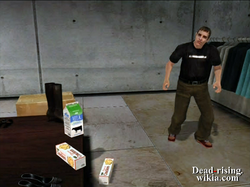 Dead rising aaron in webers next to food