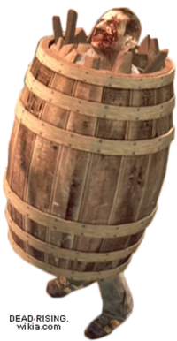 Dead rising case 0 large barrel on zombie (2)