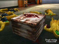 Dead rising crate with jennifer in it