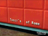Dead rising tucci's of rome sign