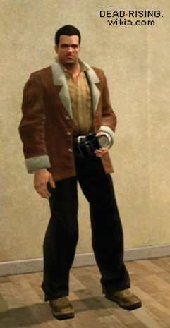 Brown Jacket with Fur Trim Tan Shirt and Black Pants | Dead Rising ...