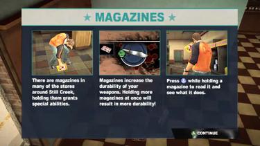 Dead rising 2 case 0 magazine info screen