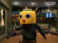 Dead rising servbot mask on zombie (2)