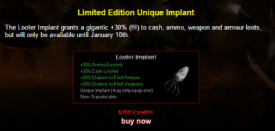 Limitededition looterimplant