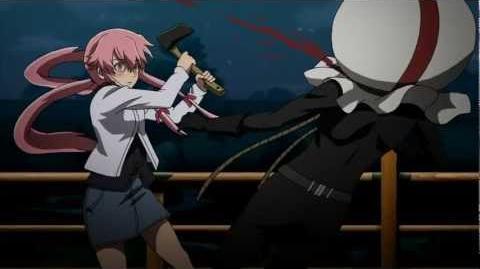 Mirai Nikki - Yuno kills Twelfth