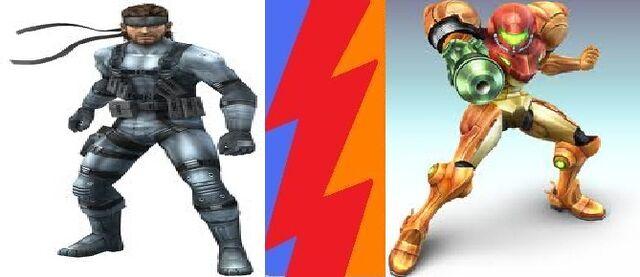 File:Snake vs samus.jpg