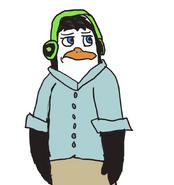 Isaac with headphones