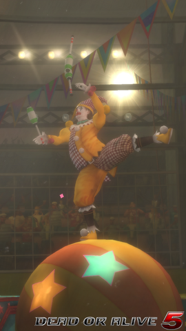 File:DOA5LR - The Show - Clown - screen by AdamCray and AgnessAngel.png