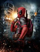 French Textless Deadpool Poster