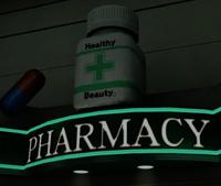 Seon's Pharmacy Sign PP Sticker
