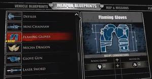 Flaming Gloves Blueprint