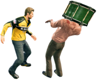 Dead rising drum on zombies head 2