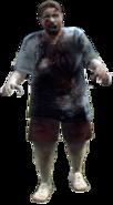 Dead rising zombie woman fat blue shirt