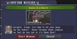 Dead rising Ducks in a Barrel is a second amendment mini-game in Dead Rising Chop Till You Drop.